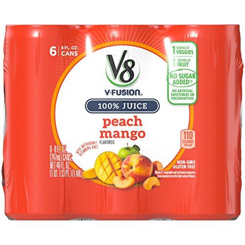 V8 Peach Mango, 8 Fl Oz (Pack of 6)