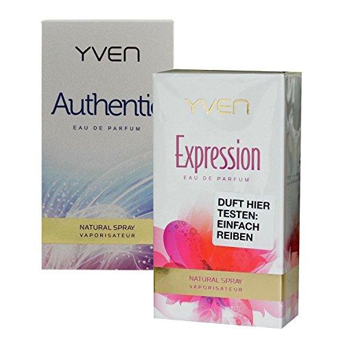 Yven Woman authentic + expression Eau de Parfum je 50ml Spray EdP Vaporisator