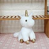 TSP Muñecas de peluche rosa unicornio de peluche para niñas y niños grande-45 cm cuerno...