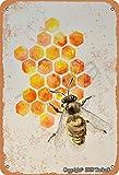 Biene und Honig Retro-Look Eisen 20,3 x 30,5 cm Dekoration