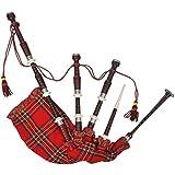 vidaXL Cornamusa Scozzese Great Highland Rosso Steward Tartan Tradizionale