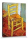 1art1 Vincent Van Gogh - Silla con Pipa De Vincent, 1888 Cuadro, Lienzo Montado sobre Bastidor (40 x 30cm)