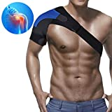 ZSZBACE Shoulder Brace for Men and Women- Rotator Cuff Brace for Shoulder Protection and Recovery- 1pc Adjustable Shoulder Support Strap (Black, Right)