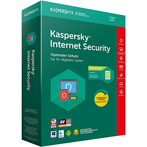 Kaspersky Internet Security + Android Security (Code in a Box). Für Windows Vista/7/8/8.1/10