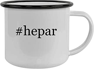 #hepar - Sturdy 12oz Hashtag Stainless Steel Camping Mug, Black