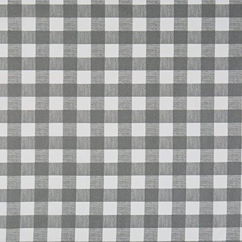 Vinylla - tovaglia cerata in cotone rivestito in vinile, argento, facile da pulire con un panno, a quadretti, Vinile Cotone, Silver, 140 x 140 cm