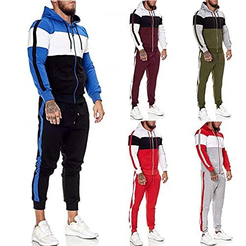 Mens Tracksuit, Men's Activewear Hoodied 2 Piece Outfit Jogging Suits Set Sports Sweatsuits Tracksuit Sets