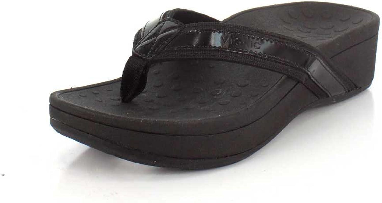 Vionic Women's High Tide Wide Platform Sandals in Black