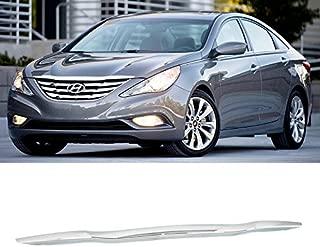 Front Hood Molding Garnish Bonnet Trim for Hyundai Sonata 11-13 Snap-in Chrome
