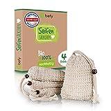 befy Seifensäckchen – [4x] Bio Seifenbeutel – vegane & nachhaltige Seifenaufbewahrung - perfekt...
