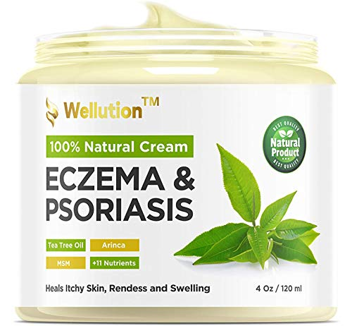 Wellution Natural Eczema and Psoriasis Cream –...
