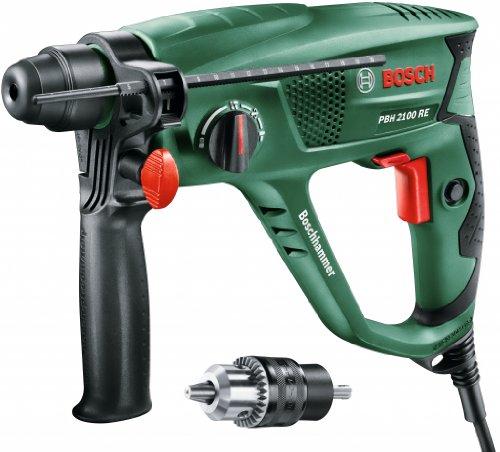 Bosch Bohrhammer PBH 2100 SRE (550 Watt, mit SDS-Adapterbohrfutter, im Koffer)