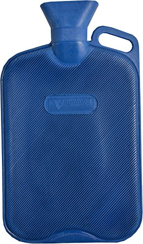 Vagabond - Bolsa de agua caliente extra grande de 2,7 litros. acanalada y de color azul.