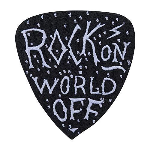 Rock on World off Patch zum Aufbügeln   Musik Patches, Rocker Bügelflicken, Flicken, Weste Aufnäher Finally Home