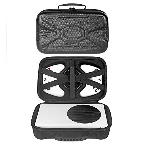 GOTRUTH Travel Case Compatible with Xbox Series S - Hard Shell Series S Carrying Case with Protective Foam Compartments for Console, Controller, HDMI Cable (Xbox Series S, Black 1)