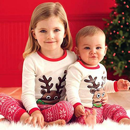 DYMAS Natale Vestiti Abbigliamento casa Autunno Bambini Usura Gap Pigiama Maniche Lunghe Carina Elk