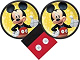 Mickey Mouse Party Supplies Bundle with Luncheon Plates and Napkins for 16 Guests