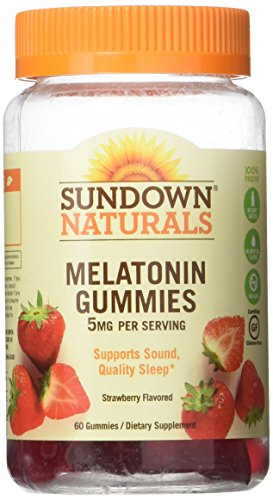 Sundown Naturals Melatonin 5 mg Dietary Supplement Gummies Strawberry Flavor - 60 ct, Pack of 3