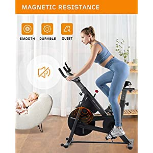 OVICX Indoor Cycling Bike Stationary Bike with Magnetic Resistance Indoor Cycling Bike Exercise Bikes Fully Adjustable Comfortable Seat and Handlebar for Home