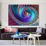 KWzEQ Affiche et Impression sur Toile Art Mural créatif Art Abstrait décoration de Salon,Peinture sans Cadre,75x96cm