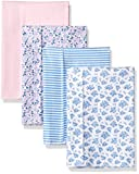Hudson Baby Unisex Baby Cotton Flannel Burp Cloths, Classic Floral, One Size