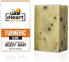 Organic Turmeric Soap Bar (Large 6 Ounce) Made in USA (Turmeric Helps Minimize Acne, Pores, Blemishes, and Has Skin Lightening Properties) Bright Beautiful Glowing Skin Whitening Soap