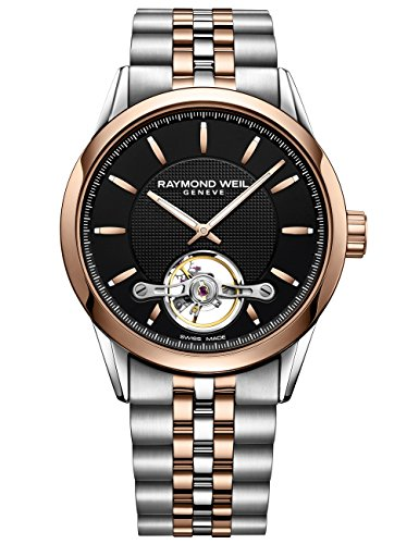 Raymond Weil Freelancer automático Reloj, RW 1212, PVD Oro Rosa, 2780-sp5-20001
