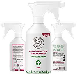Cooper And Gracie C&G Cruelty free Pet Care Wound Spray For Stinky Itchy Dogs   Purple First Aid Sprays   Dog Animal Skin Cuts Wounds Treatment