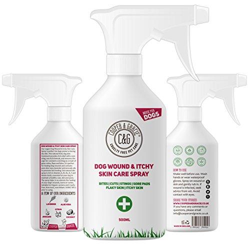 Cooper And Gracie Wundspray für stinkende, juckende Hunde | Violettes Erste-Hilfe-Spray | Behandlung von Wunden bei Hundeschnitten (500ML)