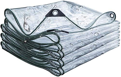 ETNLT-FCZ Transparente Plane, PVC Wasserdichtes Blatt, Blockiert Das Licht Nicht Reißfest Mit Metallscheiben Verwendung In Gärten Oder Gebäuden (Size : 1.6x4m)
