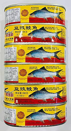 Dace (Fried & Whole) w/ Salted Black Bean in Oil 豆豉鯪魚 6 cans