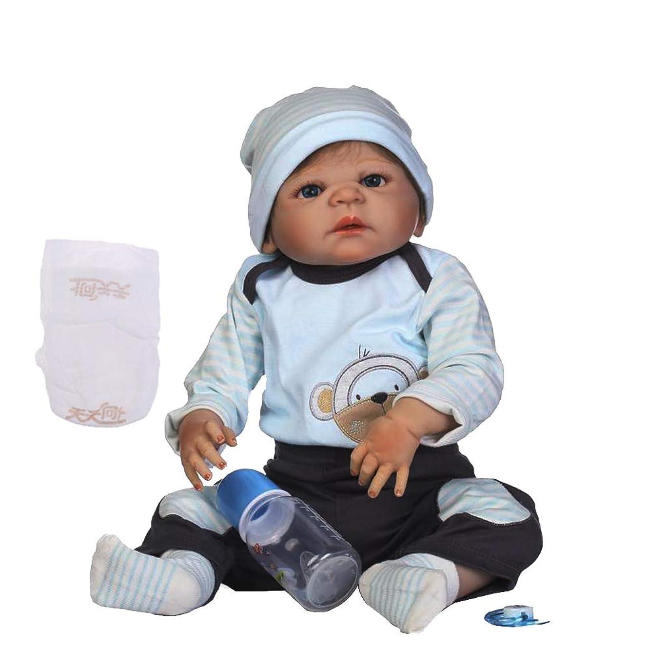 清める社員男らしいPerfeclan 赤ちゃん人形 22インチリボーンドール ベビードール 人形服 哺乳瓶 おしゃぶり 工芸品