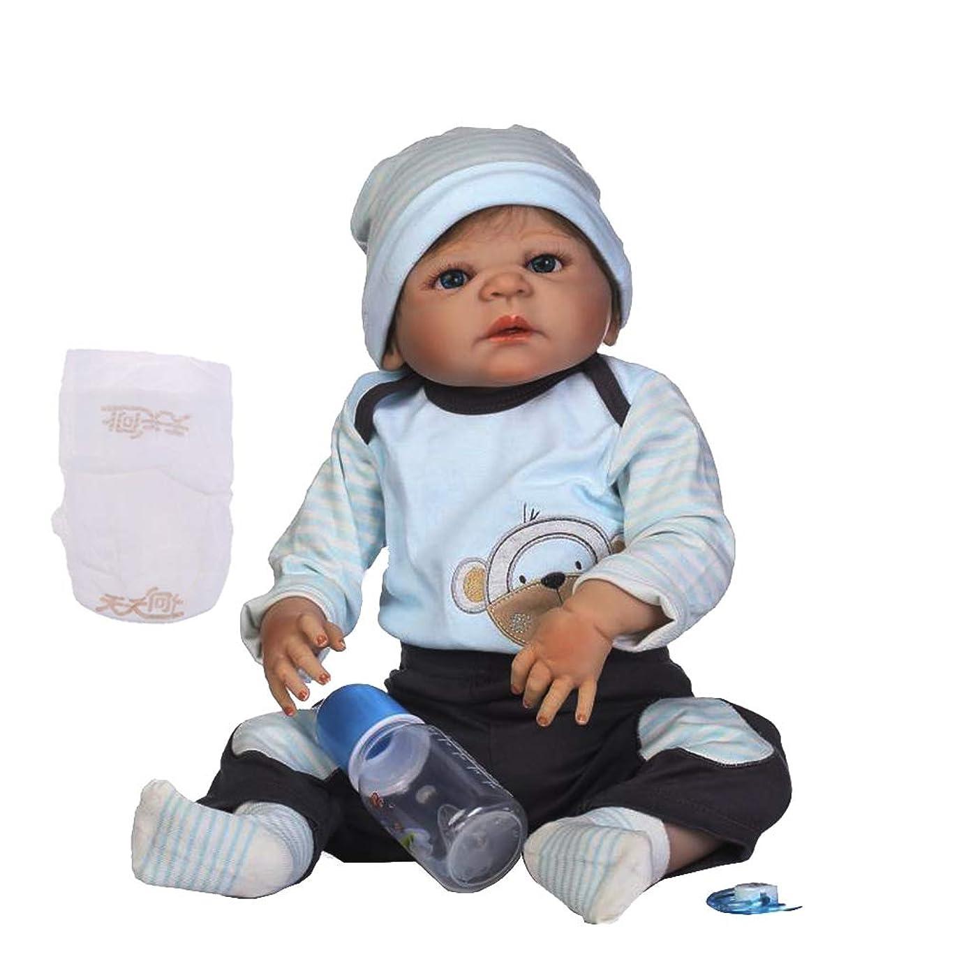 駅しないでください器具FLAMEER リアル 57cmベビードール 赤ちゃん人形 リボーンベビードール 新生児人形 ピンク服