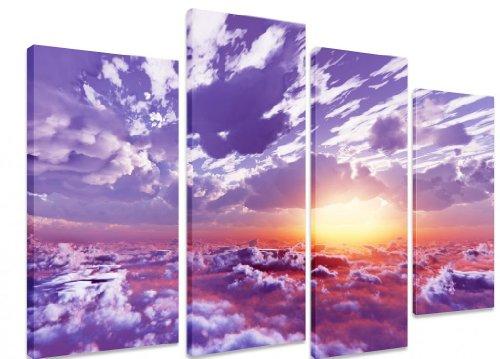Split immagine, Multi Panel Canvas ART-Splendida grafica e sopra le nuvole e montagna Sunrise Sunset ART Depot-OUTLET-Pannello 101 cm x 4 cm (71') cm x 101,60 (40 71,12 (28 cm)