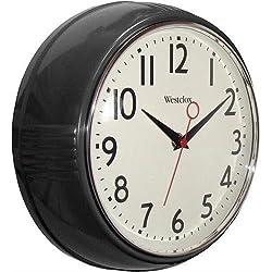 Westclox 32042bk 9.5 Black Deep Wall Clock