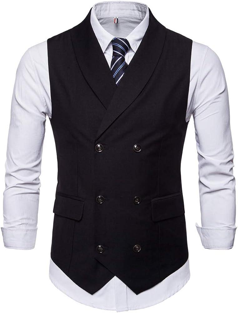 Mens Slim Fit Dress Vest Formal Turn Down Collar Premium Button Down Vest Mens Vest Waistcoat