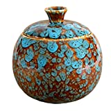 Fruit Fly Catcher Trap for Home Kitchens, Natural Pest Control, Chemical free, Nontoxic, Decorative, Effective, Kid and Pet Friendly (Marbled Turquoise)