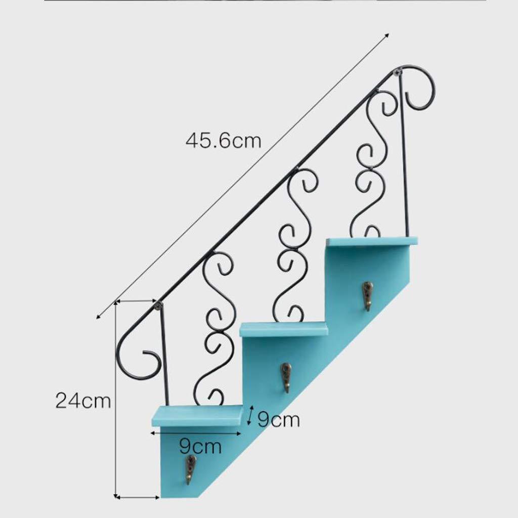 KIMSAI Escalera Creativa Pared Colgando casa Sala de Estar balcón Flor pie Gancho café decoración de la Pared Escalera de Madera Ropa Tienda decoración Flor Tienda Colgante de Pared,Tianyincolor: Amazon.es: Hogar