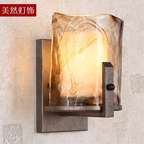 JJZHG wandlamp binnen muur lamp schoonheid lamp badkamer spiegel front muur lamp retro slaapkamer lamp TV achtergrond muur decoratie lamp (16 * 22cm) omvat: wandlampen, wandlamp met leeslampje