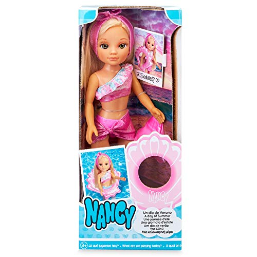 Nancy, un día de Verano, muñeca con Traje de baño, Flotador y Accesorios a Juego para niños y niñas a Partir de 3 años (Famosa 700016229)