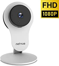 Security Camera - 1080P NETVUE Indoor Home Camera 2 Way Audio and Night Vision, Motion Detection, Compatible with Alexa Echo Show, Pet Monitor, Baby Camera with Cloud Storage