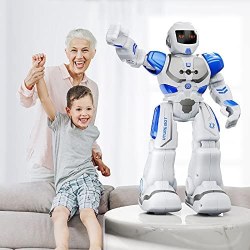 Ruko 6088 Programmable Robot, Gesture Sensing Intelligent Remote Control Robot for Kids 3-8years, Christmas Birthday Gift