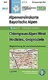 Chiemgauer Alpen, West, Hochries, Geigelstein: Wegmarkierung, Ski- und Schneeschuhrouten (Alpenvereinskarten) - Deutscher Alpenverein e.V.