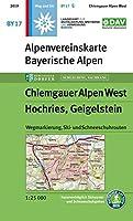 Chiemgauer Alpen, West, Hochries, Geigelstein 1 : 25 000: Wegmarkierung, Ski- und Schneeschuhrouten