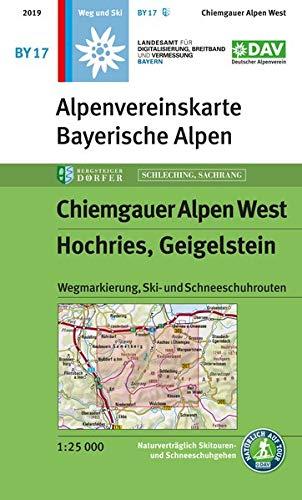 Chiemgauer Alpen, West, Hochries, Geigelstein: Wegmarkierung, Ski- und Schneeschuhrouten (Alpenvereinskarten)