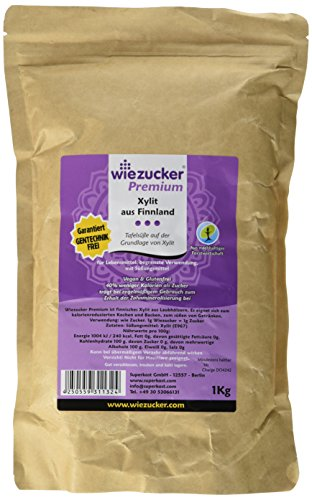 Wiezucker Premium Birkenzucker aus Finnland Xylit, hergestellt aus Laubhölzern - kein Mais, 1er Pack (1 x 1 kg)