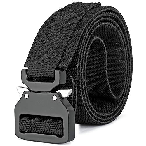 MOZETO Arbeitsgürtel Herren, 38mm Taktischer Gürtel mit Schnellspanner Metallschnalle, Rettungsdienst Militär Nylon Gürtel