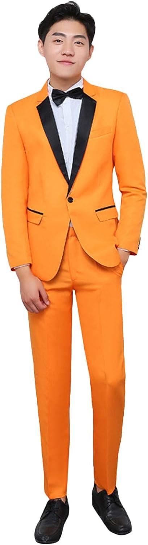 Wemaliyzd Men's 2 Pece Prom Evening Suit Notch Lapel Blazer Classic Fit Pants