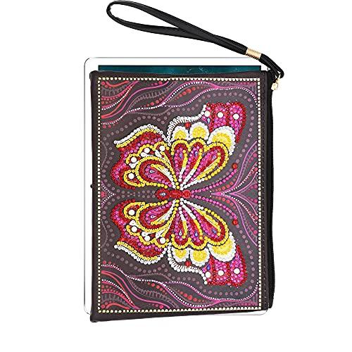 DIY Handmade Bag 5D Handmade Special Shaped Drills Schmetterling Handtasche Frauentasche Diamond Painting Kits für Erwachsene Malen nach Zahlen Geldbörse Damen Brieftasche Kunsthandwerk 20x15cm
