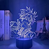 FZRZGDSH Manga D Gray Man Lavi Led Luz de Noche para decoración de Dormitorio Luz de Noche Colorida Anime Regalo Lámpara 3D Lavi D Grey Man